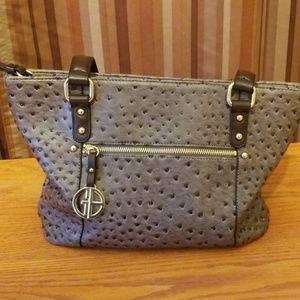 Giani Bernini Ostrich Leather Bag